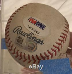 Willson Contreras Cubs Autographed Game Used Mlb Debut 1st Hit/hr Baseball Psa