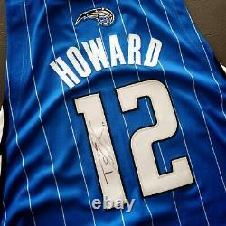 100% Authentique Dwight Howard Adidas Magic 09 10 Jeu Worn Signed Jersey Utilisé