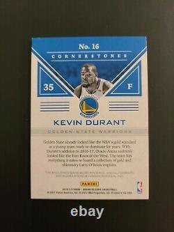 17-18 Cornerstones Kevin Durant Warriors Auto Patch #05/35 Jeu Utilisé Jersey