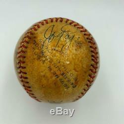 1948 Barnstorming Multi Signé Jeu Utilisé Baseball Enos Slaughter Joe Page