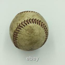 1950 Hank Aaron Signed Game Used National League Baseball Mears Coa & Steiner