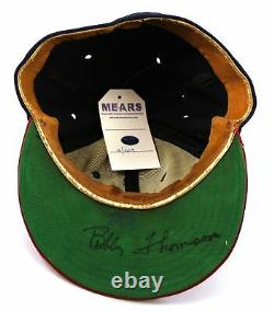 1954 Bobby Thomson Signed Game Used Milwaukee Braves Hat Cap With Mears Coa