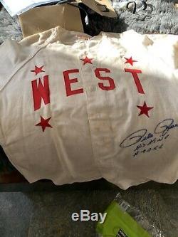 1958 Pete Rose Signé Jeu Utilisé Lycée All Star Jersey Jeu Avec Loa Reds