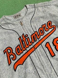 1965 Don Larsen Baltimore Orioles Game-autographié Occasion Et Route Flanelle Jersey