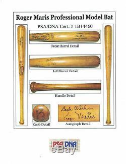 1967 Roger Maris Signé Jeu Utilisé World Series Champion Saison Bat Psa Loa