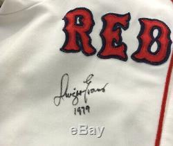 1979 Dwight Evans Jeu Utilise Porter Et Signée Red Sox Home Jersey Usure Withnice