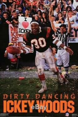 1980 Cincinnati Bengals Ickey Woods Signé Jeu Utilisé Emis Jersey Auto