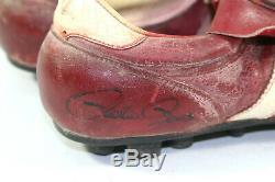 1980 Pete Rose Phillies Signé Jeux Crampons Saison Championnes Série Mondiale