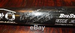1986 Reggie Jackson Californie Angeles Jeu Utilisé Cracked Autographié Bat Daté
