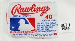1989 Cincinnati Reds Eric Davis Signé Game Uniforme Porté Maillot Auto Utilisé Loa