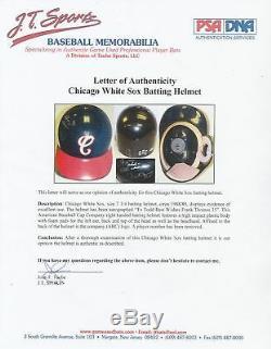1990 Frank Thomas Rookie Jeu Signé Casque D'occasion White Sox De Chicago Psa Dna Coa