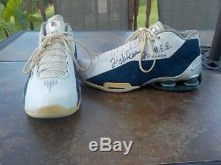 1990 Tim Hardaway Autographe Jeu D'occasion De Basket-ball Nike Chaussures M. E. E