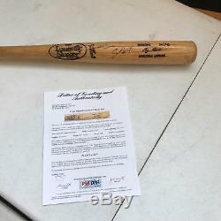 1991-97 Craig Biggio Signé Jeux Batte De Baseball Usagée Psa Dna Gu 9 Houston Astros