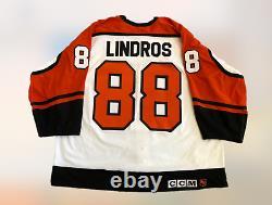 1992-93 Flyers Eric Lindros Jeu Usé Utilisé Signé Rookie Hockey Jersey