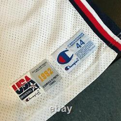 1992 Magic Johnson Signé Jeu D'occasion Équipe USA Jeux Olympiques Jersey Jsa Coa