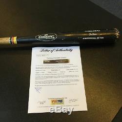 1992 Tim Raines Signé Jeu Utilisé Cooper Baseball Bat Psa Adn Coa