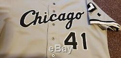 1992 White Sox De Chicago Jackie Brown Jeu Utilisé Jersey Signé Par Frank Thomas Auto