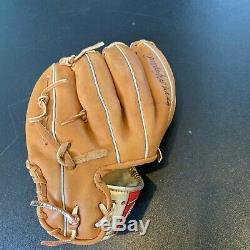 1993 Ryne Sandberg Signé Jeu Utilisé Rawlings Gant De Baseball Chicago Cubs Jsa Coa