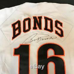 1994 Bobby Bonds Signé Jeu Utilisé Jersey San Francisco Giants Jsa Coa Barry