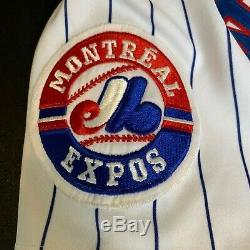 1994 Larry Walker Signé Jeu Occasion Montréal Expos Jersey Avec Jsa Coa Rare