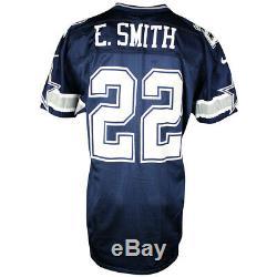 1996 Emmitt Smith Signé Jeu Utilisé Dallas Cowboys Jersey Jsa Et Gris Flanelle Coa