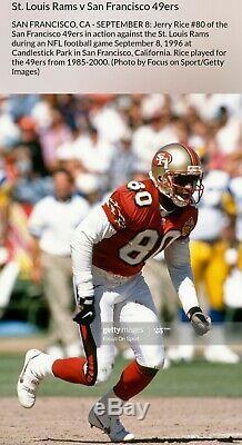 1996 Jerry Rice San Francisco 49ers Signé Jeu Utilisé Crampons Photomatched Loa Auto