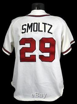 1996 John Smoltz Jeu Signé Atlanta Braves Domicile Jersey Psa Adn Miedema Loa