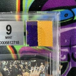 1996 Press Pass Kobe Bryant Rc Rookie Auto Bgs 9/10 Jeu Utilisé Jersey Patch Ggum