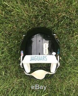 1997 Jacksonville Jaguars Mark Brunell Jeu Utilisé Riddell Casque Autographié