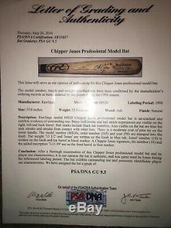 1998 Chipper Jones Jeu Signé Utilisé Bat Braves Psa 9.5 Vintagebats. Com