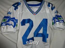 1999 Seattle Seahawks Shawn Springs Jeu Utilisé NFL Jersey Worn Signé Football