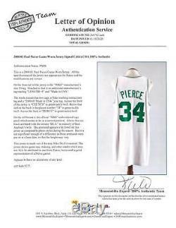 2000-2001 Paul Pierce Jeu Utilisé Et Signé Boston Celtics Accueil Jersey Avec Dorot