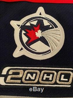 2000 Tony Amonte NHL All-star Game Jersey LNH Anciens Et D'occasion Coa Worn Blackhawks