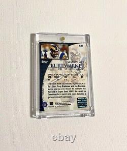 2000 Topps Kurt Warner Super Bowl Autographe Sp Rams Jeu Utilisé Football Auto Rams