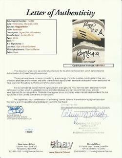 2001 Reggie Miller Jeu D'occasion Et Signé La Jordanie Indiana Pacers Sneakers