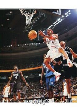 2002 Allen Iverson Jeu Utilisé - Signé Julius Erving Dr. J All Star Game Jersey