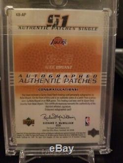 2003-04 Sp Jeu Utilisé Autographié Patches Authentiques Kobe Bryant Auto Lakers Patch