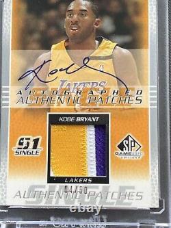 2003-2004 Kobe Bryant Upper Deck Sp Jeu Utilisé Patch Auto /50 Ultra Rare Lakers Sp