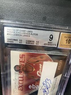 2003-2004 Sp Jeu Utilisé Rookie Exclusivités Lebron James Rc Bgs 9/10 Mint /100 #re1