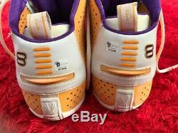 2003 Kobe Bryant Jeu Chaussures Occasion Signés Auto Avec Gai Coa Lebron James Jeu