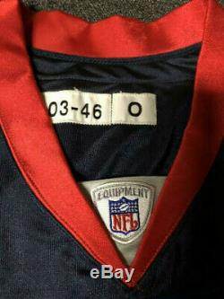 2003 Takeo Spikes Buffalo Bills Jeu Utilisé Worn Jersey Reebok Signé! Auburn
