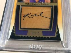 2004-05 Sp Jeu Utilisé Kobe Bryant Wood Impressions Auto #12/75 Bgs 9 Lakers Hof