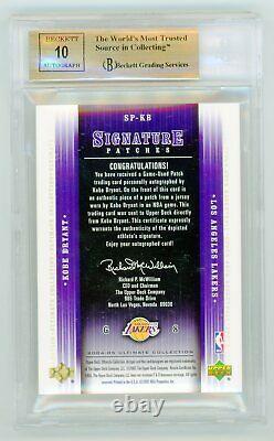 2004/05 Ultimate Kobe Bryant Auto Autographe Jeu Utilisé Patch Jersey Bgs 9.5 10