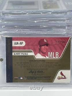 2004 Polaire Albert Pujols Auto + Jeu Utilisé /50 Jersey Cardinals Mzlb Authentix