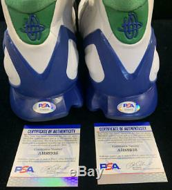 2005 Dirk Nowitzky Jeu D'occasion Chaussures, Nike Signés Huarache 2k5 Dallas Mavs 41. Psa