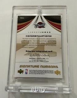 2005 Sp Lebron James Jeu Used Signature Numbers Limited À #23 Exquise Auto