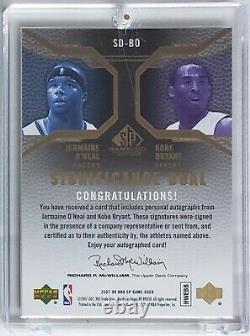 2007-08 Sp Game Used Importance #sd-bo Jermaine O'neal Kobe Bryant #'d 12/25