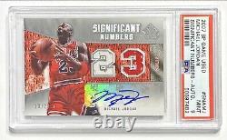 2007-08 Ud Sp Jeu Utilisé Michael Jordan Jersey #23/23 Game Worn Patch Auto Psa 9
