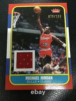 2007 Fleer Michael Jordan Career Box Rc Design Jeu Utilisez Jersey /100 Extreme Rare