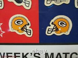 2008 Coors Light Beer NFL Matchup Sign Game Day Match Up